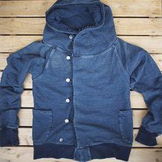Kapital   Indigo Fringe W Hooded Sweatshirt
