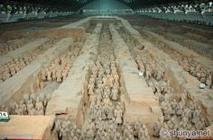 Terracotta Warriors in Xian, China. Amazing place, and mind blowing that no two warriors are the same!