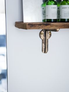 All our hardware is cast by hand in the UK. Solid bronze bracket ideal for supporting smaller shelves - ML Interior Design Home Store - £28