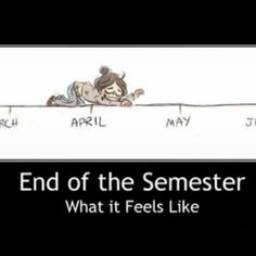 An accurate illustration of what the end of the semester feels like: