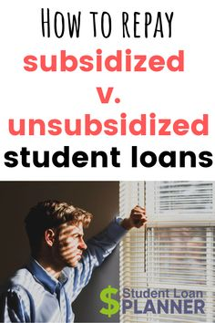 Unsubsidized Student Loans Payingoff student loans requires a little strategy. Here's the difference between how you should handle paying off subsidized student loans v. paying off unsubsidized student loans. Federal Student Loans, Paying Off Student Loans, Student Loan Debt, Scholarships For College, Education College, College Loans, College Tips, Student Loan Repayment, Private Loans