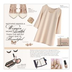 """In The Nude"" by marion-fashionista-diva-miller ❤ liked on Polyvore featuring Chicwish, Valentino, Isadora, Ruby Rocks, R.J. Graziano, Splendid Pearls, OPI, nudepumps and nudedress"