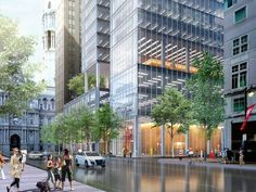 SOM-designed office tower planned for 13th and Market parking lot