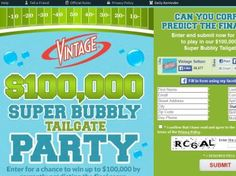 Vintage Super Bubbly Party Sweepstakes