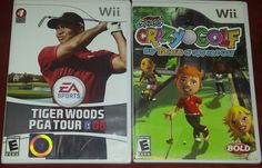 Tiger Woods PGA Tour and Kidz Sports: Crazy Golf (Nintendo Wii, 2008) EA sports