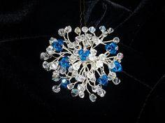 Something blue Wedding hair pins.Crystals blue by DesignByIrenne