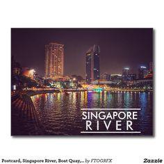 Postcard, Singapore River, Boat Quay, Singapore Postcard