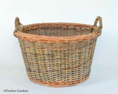 round willow laundry basket