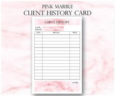 Pink Marble Nail Technician Small Business Planner, Nail Artist Client Forms, Nail Tech Printable Planner, Rose Gold Planner WHATS INCLUDED: ► Appointments ► Client History Cards ► Nail Technician New Client Page ► Service Log Page ► Income Tracker ► Expense Tracker ► Inventory List
