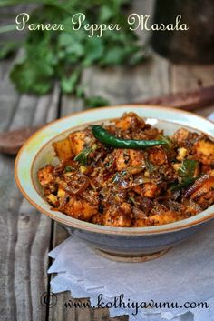 Dry paneer with pepper Curry Recipes, Vegetarian Recipes, Cooking Recipes, Healthy Recipes, Rice Recipes, Cooking Tips, Paneer Dishes, Veg Dishes, Food Dishes