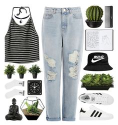 """#45"" by iamaunicornx3 ❤ liked on Polyvore featuring mode, Warehouse, NIKE, adidas, Lux-Art Silks, Harrods, Sephora Collection et Chicnova Fashion"