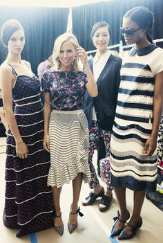 Backstage at Tory Burch Spring 2012