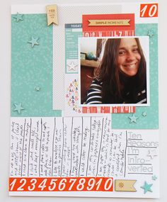 #papercrafting #scrapbook #layout  Ten Reasons I'm Introverted | Document with Lists | The Nerd Nest 2
