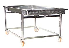 STAINLESS STEEL TABLES AND TANKS ON WHEELS - 2C Inox