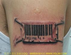 3d Barcode Tattoo On Armband Cool Tattoos Pinterest 3d intended for Barcode Tattoo