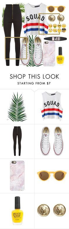"""Untitled #742"" by fashiongirlxcx ❤ liked on Polyvore featuring Nika, Chicnova Fashion, Balmain, Converse, Casetify, CÉLINE, Piggy Polish, Chanel and Maybelline"