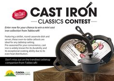10/23/15 Enter to #win a mini cast iron collection from Tablecraft! #Giveaway http://woobox.com/xnk6j7/g4n2br