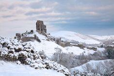 Corfe Castle, Camera World, Digital Camera, Castles, Snow, Outdoor, Image, Beautiful, Outdoors