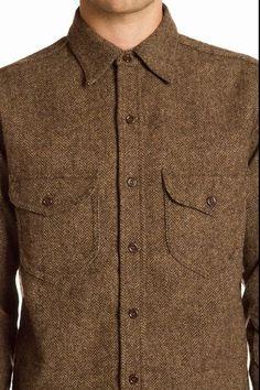 Monitaly Herringbone Triple Needle Shirt