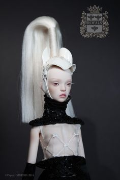 Popovy Sisters, Royals Collection.  Equestrian fetish, BDSM high fashion BJD doll.