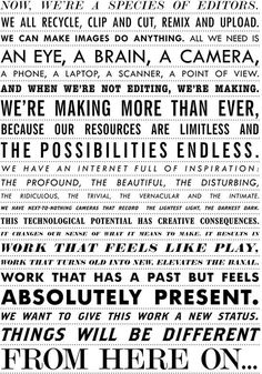 A Manifesto For Creativity In The Modern Era