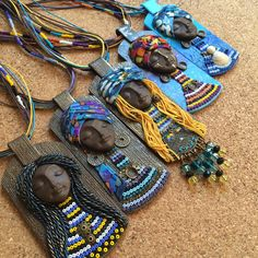 Beautiful african jewelry by eNGI! 39 usd on Etsy shop African jewelry,tribal necklace,boho style jewelry,Polymer clay jewelry,star necklace,artisan jewelry,mothers day gift,birthday gift woman