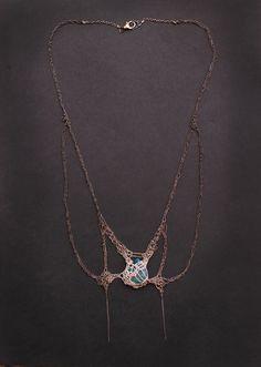 Chrysocolla+butterfly+crochet+gradient+silver+by+PetiteMortShop,+$450.00