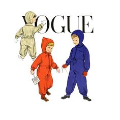 1950s Childs Snowsuit Pattern Vogue 2807 Breast 23 by CynicalGirl, $20.00