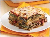 HG's Veggie-rific Noodle-Free Lasagna  1/4th of recipe (1 SUPER-LARGE portion)   Calories: 238