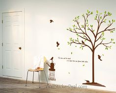 To Love or Be Loved is To Feel The Sun From Both Sides Wall Decals Wall Stickers, Wall Decals, Tree Wall Art, Side Wall, Growing Tree, Sweet Home, Love, Living Room, Crafts