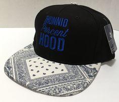Look what we have in stock !!! Blue Bandanna 1Hu... visit http://100percenthood.biz/products/copy-of-grey-brim-1hunnid-percent-hood-snapback-baseball-cap?utm_campaign=social_autopilot&utm_source=pin&utm_medium=pin