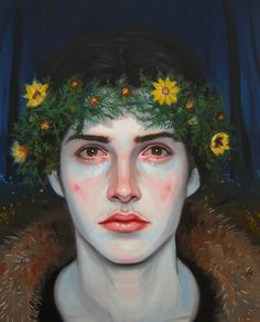 historical-paintings: Kris Knight (Canadian, b. 1980), Adonis Vernalis, 2010. Oil on canvas, 16 x 20 in.