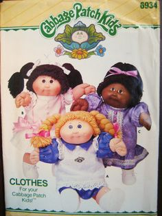 Free Shipping Butterick 6934/343 Vintage 1984 by resurrections, $16.97  I Love reselling Cabbage Patch Kids I find at the local thrift stores, I've tried Making them clothes, I pry should learn how to use a pattern... I'd Like to try this, within the next year perhaps?
