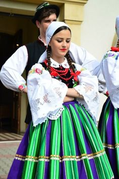 Regional costume from Łowicz, Poland.