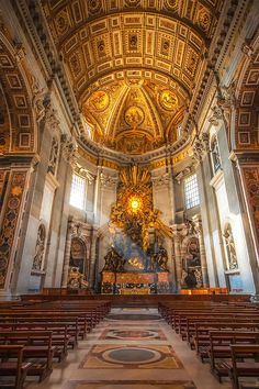 43 Beautiful Photo St Peter's Basilica, Vatican, Rome, Italy Cathedral Architecture, Sacred Architecture, Baroque Architecture, Religious Architecture, Beautiful Architecture, St Peter's Church, Cathedral Church, St Peters Cathedral, Saint Peter Rome