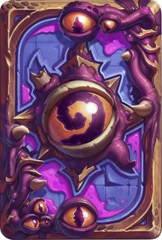 Card Back: Eyes of C'Thun Artist: Blizzard Entertainment