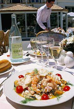 Salad Grand Bleu, Le Grand Bleu restaurant, Bonifacio, island of Corsica…