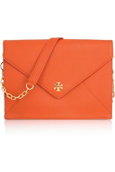 Tory Burch - Robinson Envelope clutch  http://designmeetscomfort.com/2012/06/04/how-pinteresting-the-papaya-trend-2/