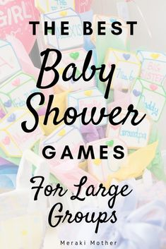 Need Baby shower games for large group? These games are super easy to set up and… Need Baby shower games for large group? These games are super easy to set up and lots of fun for any baby shower. Men Baby Shower Games, Baby Shower Games For Large Groups, Large Group Games, Baby Games, Fun Games, Elegant Baby Shower, Unique Baby Shower, Baby Shower Fun, Baby Shower Themes