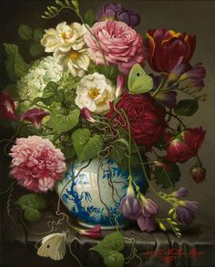 Yana Movchan New Work Floral with Morning Glories