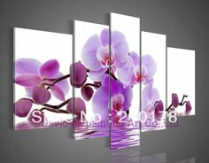 110cm*60cm hand-painted oil wall art Purple flowers water side home decoration abstract Landscape oil painting on canvas  DY-023 $47.00