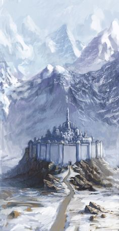 Gondolin is a Ñoldorin city in the valley of Tumladen in Middle-Earth. It was founded by Turgon, son of Fingolfin and destroyed in the War of the Jewels in the First Age. - Gondolin 15 by LowSyet.deviantart.com on @deviantART
