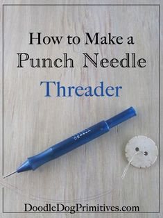Learn how to make a punch needle threader. With wire, a button, wire cutters, and a needle, you can create your own punch needle threaders. How To Make Punch, Hook Punch, Punch Needle Patterns, Rug Hooking Patterns, Craft Punches, Punch Art, Punch Punch, Sewing Projects For Beginners, Sewing Hacks