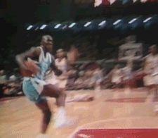 MJ @ UNC Rocking The Cradle....Sick Dunk! ***GIF*** Old School....