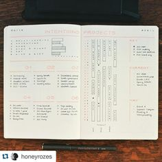 I love this method to keep track of big #projects. @honeyrozes tracks time so she can see how busy she is during any given day. ・・・