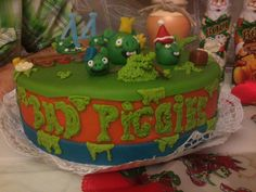 Cool Bad Piggies Cake!