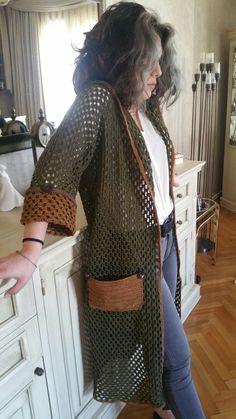 Crochet Jacket, Crochet Poncho, Easy Crochet, Crochet Bolero Pattern, Moda Crochet, Diy Clothing, Crochet Fashion, Beautiful Crochet, Crochet Clothes
