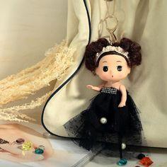 Lace Dress Doll Key Ring