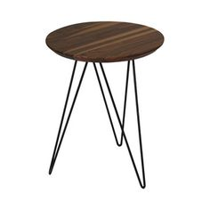 Graham Hill Accent Table in Walnut in Black