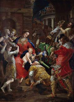 Girolamo Bedoli-Mazzola: Adoración de los Magos.